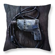 Tools On Wood 28 Throw Pillow