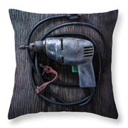 Tools On Wood 29 Throw Pillow