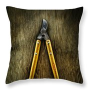 Tools On Wood 34 Throw Pillow