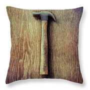 Tools On Wood 53 Throw Pillow