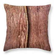 Tools On Wood 54 Throw Pillow