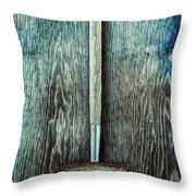 Tools On Wood 55 Throw Pillow