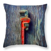 Tools On Wood 62 Throw Pillow