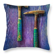 Tools On Wood 65 Throw Pillow