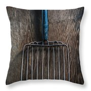 Tools On Wood 66 Throw Pillow