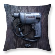 Tools On Wood 76 Throw Pillow
