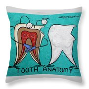 Tooth Anatomy Throw Pillow