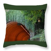 Tooth Rock Tunnel Throw Pillow