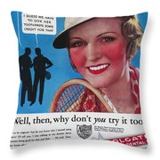 Toothpaste Ad, 1932 Throw Pillow by Granger