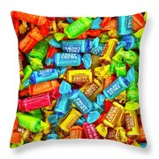 Tootsie Fruit Chews Throw Pillow