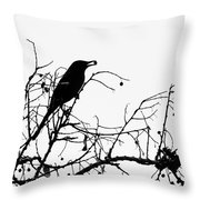 Top Bird Throw Pillow