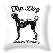 Top Dog Brewing Company Tee Throw Pillow