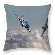 Top Gun - 1944 Version - P51 V Bf109g Throw Pillow