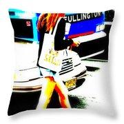 Top Model In Manhattan Throw Pillow