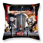 Top Model On Route 66 Throw Pillow