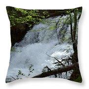 Top Of Clear Creek Falls Throw Pillow