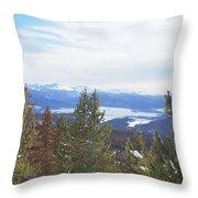 Top Of Gravel Mountain Throw Pillow