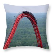 Top Of Intimidator 305 Rollercoaster Throw Pillow