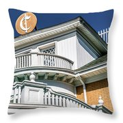 Top Of Large Residence In Marion 7986t Throw Pillow