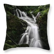 Top Of Mouse Creek Falls  Throw Pillow