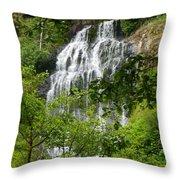 Top Of Munson Creek Falls Throw Pillow