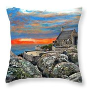 Top Of Table Mountain Throw Pillow