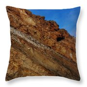Top Of The Cliff Throw Pillow