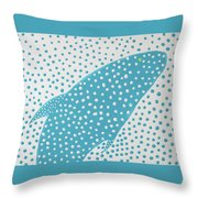 Top Of The Dotted Whale Throw Pillow by Deborah Boyd