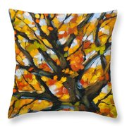 Top Of The Maples Throw Pillow