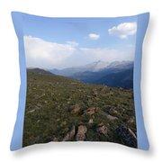 Top Of The Rockies Throw Pillow