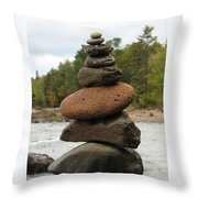 Top Of The Stack Throw Pillow