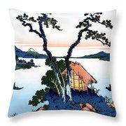 Top Quality Art - Mt,fuji36view-shinshu Suwako Throw Pillow