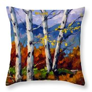 Top Sides Colors Throw Pillow