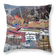 Top View. Krasnaya Polyana. Throw Pillow