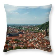Top View Of Heidelberg, Germany. Throw Pillow
