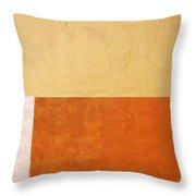 Topaz Pink Orange Throw Pillow