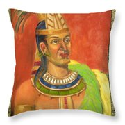 Topiltzin Illustration Throw Pillow by Lilibeth Andre
