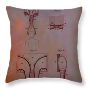Topophone Patent Drawing 1e Throw Pillow
