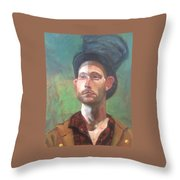 Topper Throw Pillow by JaeMe Bereal