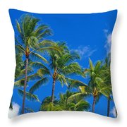 Tops Of Palms Throw Pillow