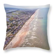 Topsail Buzz Surf City Throw Pillow