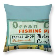 Topsail Island 1996 Ocean City Throw Pillow