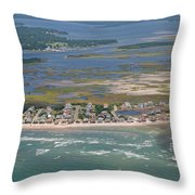 Topsail Island Migratory Model Throw Pillow