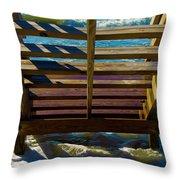Topsail Island Ocean Steps Throw Pillow