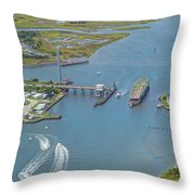 Topsail Island Top Of The Hour Throw Pillow