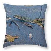 Topsail Swing Bridge Throw Pillow