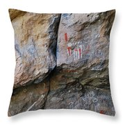 Toquima Cave Pictographs Throw Pillow