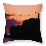 Torch Lighting Throw Pillow