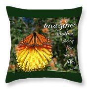 Torch Lily And Monarch Throw Pillow
