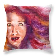 Tori Rainbow Throw Pillow by Ken Meyer jr